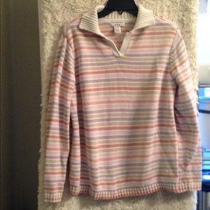 16/18 W multi color pink/purple sweater